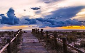 Обои andalucia, playas de almeria, nubes