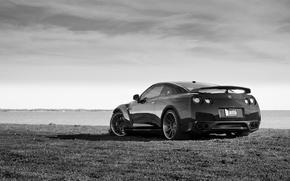 Картинка GTR, Nissan, white, black