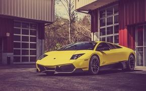 Картинка Lamborghini, Murcielago, Yellow, LP670-4, Super, Supercar, North, West, Veloce
