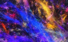 Картинка радуга, рельеф, краски, пятно, свет, цвет, объем, узор