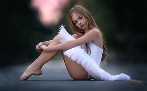 Картинка взгляд, девочка, балерина, little ballerina