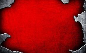 Обои красный, металлик, текстура, фон, края