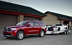 Картинка фон, Додж, Dodge, суперкар, Viper, передок, and, гаражи, кроссовер, SRT10, Вайпер, Durango, ACR, Дуранго