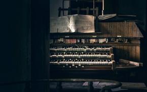 Картинка ноты, клавиши, орган