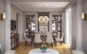 Картинка комната, мебель, интерьер, гостиная