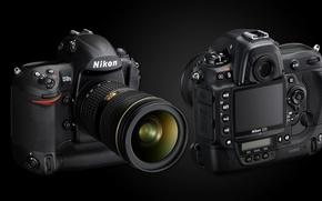 Картинка дисплей, обьектив, NIKON D3s, зеркальная фотокамера
