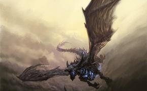 Картинка Warcraft, art, Sindragosa, Frost wyrm