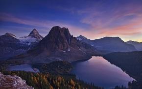 Картинка звезды, горы, озеро