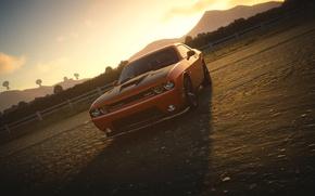 Картинка Dodge Challenger, The Crew, Sun Set