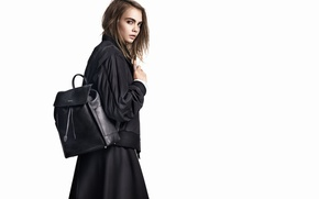 Картинка модель, портфель, Cara Delevingne