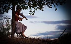Обои красавица, Линдси Стирлинг, violin, Lindsey Stirling, скрипачка