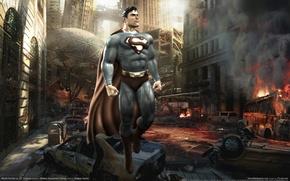 Картинка город, superman, хаос, Mortal Kombat vs. DC Universe