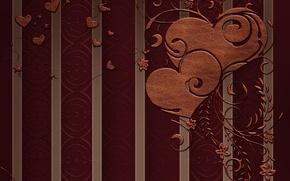 Картинка цветы, узор, сердце, рисунок, Love, текстура, Любовь, heart, texture, flowers, pattern, День Святого Валентина, tracery, …