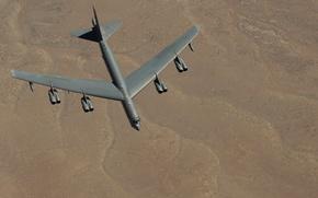 Картинка Boeing, бомбардировщик, стратегический, тяжёлый, B-52, Stratofortress, полет ландшафт