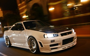 Картинка Nissan, GT-R, Skyline, R34, BNR34, SKY, Nissan Skyline GT-R R34 (BNR34)