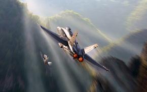 Картинка Швейцария, Douglas, McDonnell, F/A-18 Hornet, американский палубный истребитель-бомбардировщик