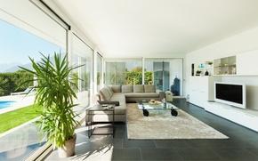 Картинка интерьер, гостиная, living room, interior, стильный дизайн, stylish design, современные виллы, Modern villa