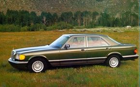 Картинка Green, Mercedes-benz, 1979, S-Class, W126