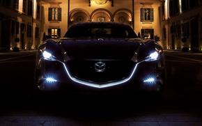 Картинка свет, ночь, фары, мазда, Mazda Shinari Concept 2011, night light