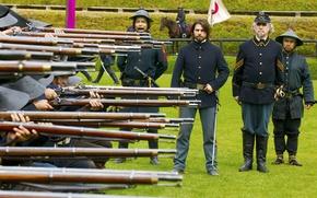 Обои Tom Cruise, The Last Samurai, Последний Самурай, Том Круз, солдаты, ружья