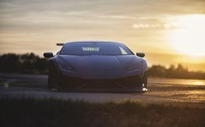 Картинка свет, Lamborghini, вид спереди, Huracan