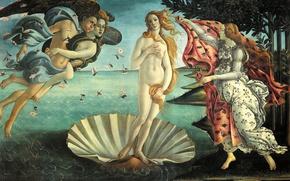 Картинка картина, Рождение Венеры, мифология, Сандро Боттичелли