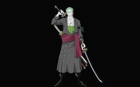 Картинка парень, мечи, anime, art, roronoa zoro, one piece