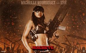 Обои Мишель, Родригес, Michelle, Мачете, Machete, Rodriguez