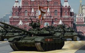 Картинка танк, парад, красная площадь, бронетехника, Т-90