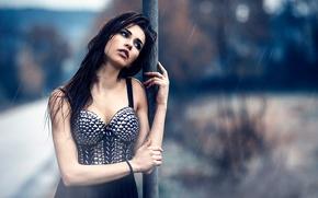 Картинка девушка, дождь, Alessandro Di Cicco, Is it worth waiting
