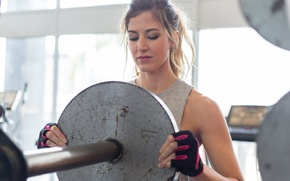 Обои fitness, blonde, training, model