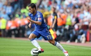 Обои мяч, футбол, клуб, Челси, Chelsea, стадион, футболист, игрок, Eden, Эден, Азар, Hazard, Nike