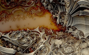 Картинка абстракция, фон, цвет, форма, Fractal