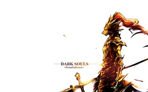 Картинка игры, волк, рыцарь, games, босс, dark souls, темные души, knight, орнштейн, ornstein