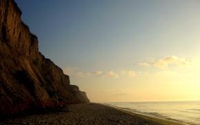 Обои Море, Утро, Обрыв