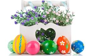 Картинка цветы, яйца, Пасха