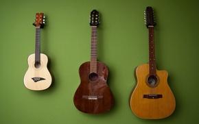 Картинка фон, стена, гитары