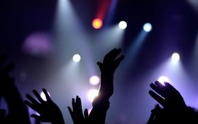 Картинка руки, Концерт, прожекторы
