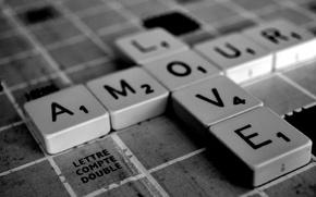 Обои квадраты, буквы, любовь