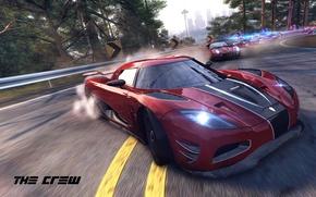 Картинка Koenigsegg, red, police, Ubisoft, Agera R, The Crew
