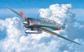 Картинка aircraft, war, airplane, aviation, dogfight, japanese bomber, B6N Tenzan