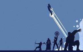 Обои железный человек, Роберт Дауни мл, Крис Эванс, тор, Мстители, The Avengers, Руффало, Скарлетт Йоханссон, халк, ...