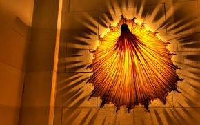 Обои Светильник, тень, желтый