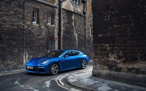 Картинка Porsche, Panamera, улочка, S E-Hybrid