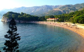 Картинка горы, Адриатика, Черногория, Королевский пляж, вилла Милочер