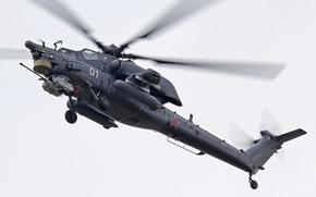 """Картинка вертолет, российский, всепогодный, ударный, Ми-28, """"Ночной Хищник"""""""