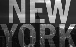 Обои текст, город, небоскреб, Нью-Йорк, США, Америка, мегаполис, эмпайр стейт билдинг, New York