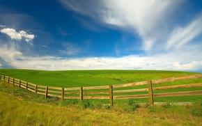 Обои Вашингтон, забор, поле