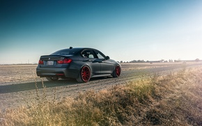 Обои German, Car, 335i, Sport, Rear, Road, F80, BMW