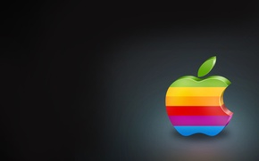 Обои минимализм, яркий, Apple